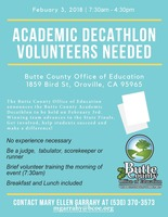 Volunteers Needed - Academic Decathlon