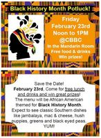Black History Month Potluck!