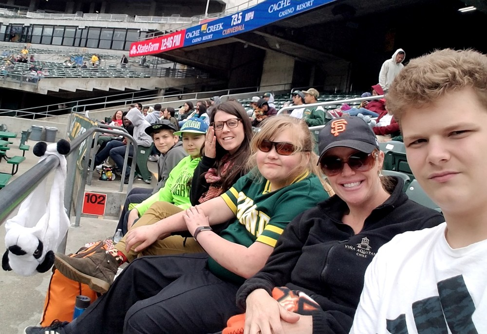 BCOE Students at the A's Game