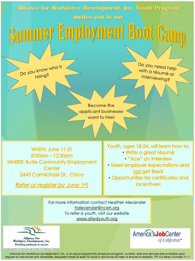 Summer Employment Boot Camp