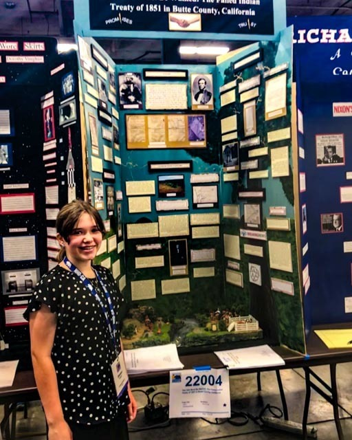 Emma Lund, CORE Butte Charter School,  Wins Special Award for the State of California in the 2018 National History Day Competition