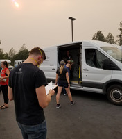 BCOE's Calkidz program and staff deliver food to the Salvation Army in  Redding for fire relief