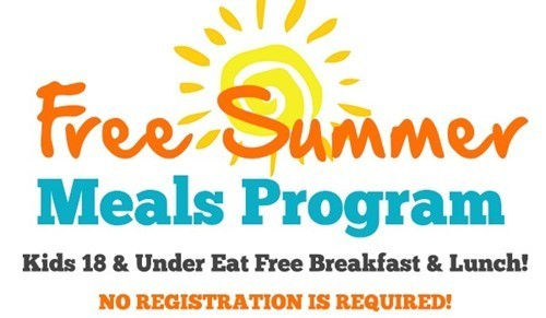 Free Summer Meals Program - Kids 18 & Under Eat Free Breakfast & Lunch! No Registration is Required!