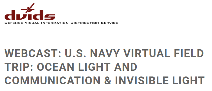 U.S. Navy Virtual Field Trip for Middle School STEM Students