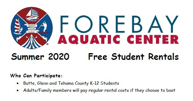 Free Student Rental this summer at Forebay Aquatic Center!
