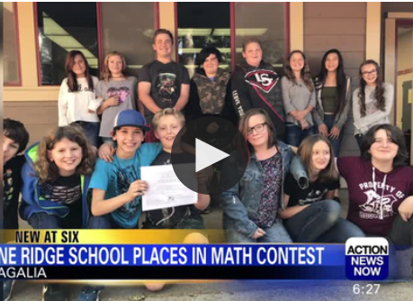 Pine Ridge Elementary Places Third in Nation-wide Math Contest