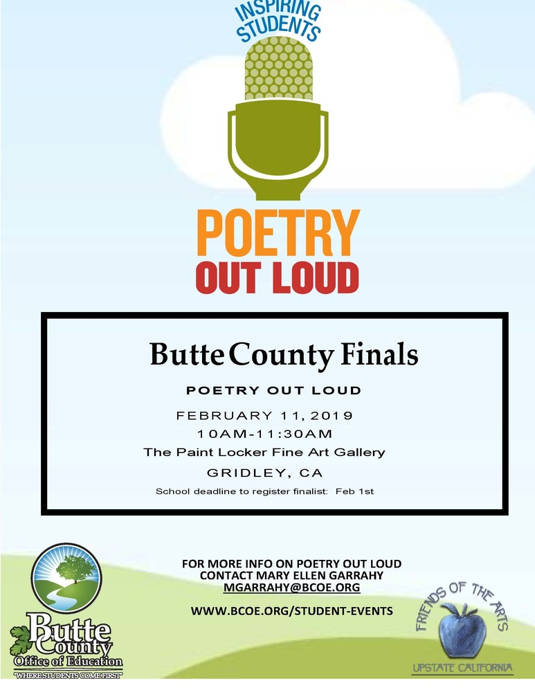 Poetry Out Loud Competition - Registration Deadline