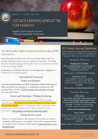 Distance Learning Parent Newsletter Issue 2