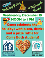 Join us for the Holiday Pizza Party at E-House!