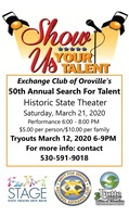 Exchange Club of Oroville's 50th Annual Search For Talent