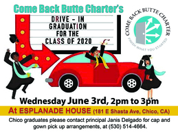 Drive through Chico Graduation 6.3.20 at 2pm!