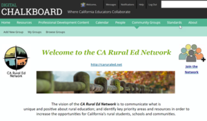 California rural education network launches to help isolated teachers share resources -- #CARuralEd #ButteCOE