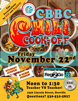Friday November 22nd Chili Cook Off!