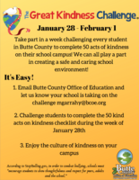 Great Kindness Challenge Jan. 28 - Feb. 1
