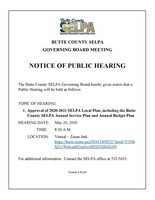 Butte County SELPA Governing Board Meeting