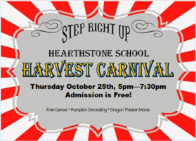 Harvest Carnival (Oct. 25th)