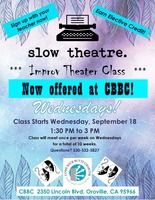 Improv Theater Class coming to CBBC!