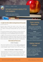 Distance Learning Parent Newsletter Issue One