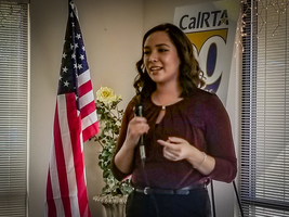 Former Mini-Corps Tutor and Laura E. Settle  Scholarship Recipient Speaks at the CalRTA Division 32 Luncheon