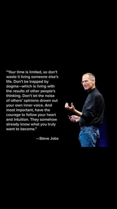 great inspiration from Steve Jobs