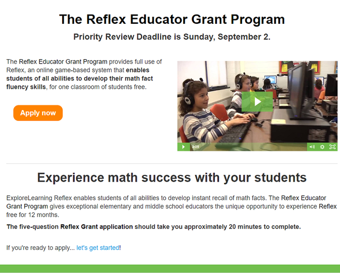 ExploreLearning Grant