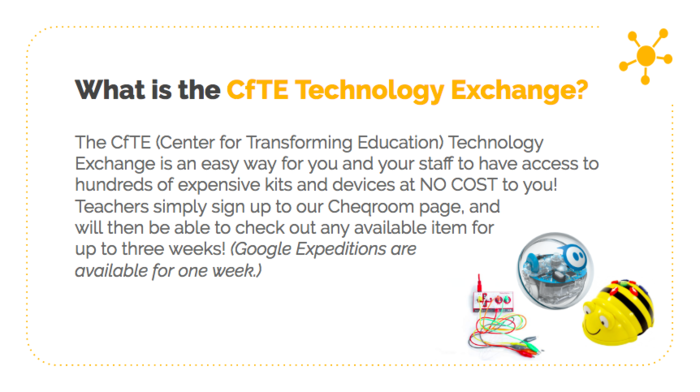CfTE Technology Exchange Info