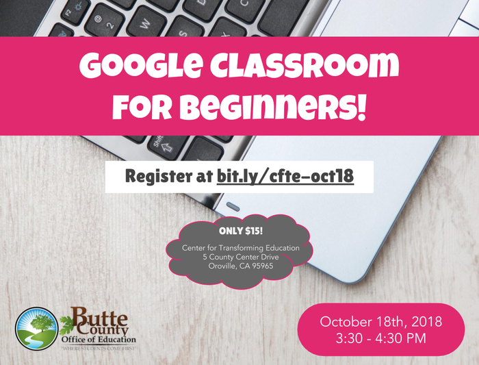 Google Classroom for Beginners flyer