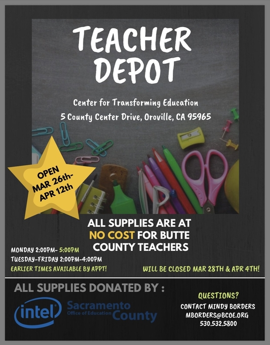 Teacher Depot flyer