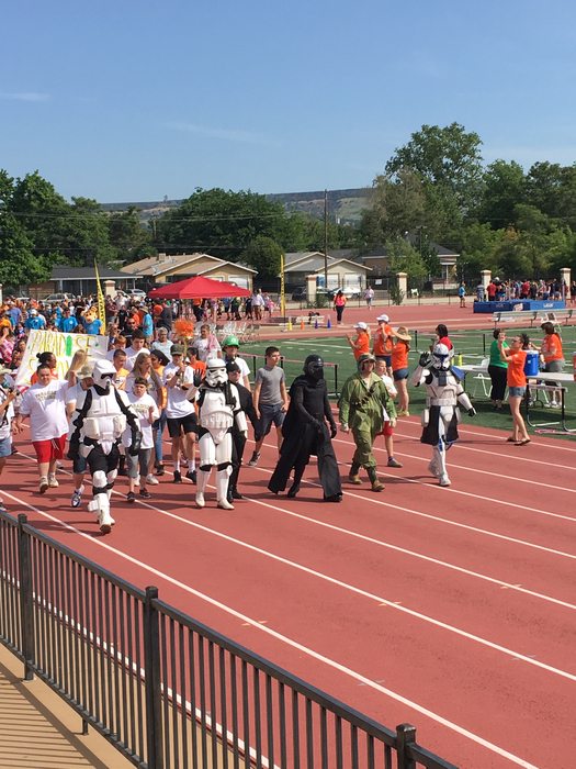 Storm troopers led the parade!
