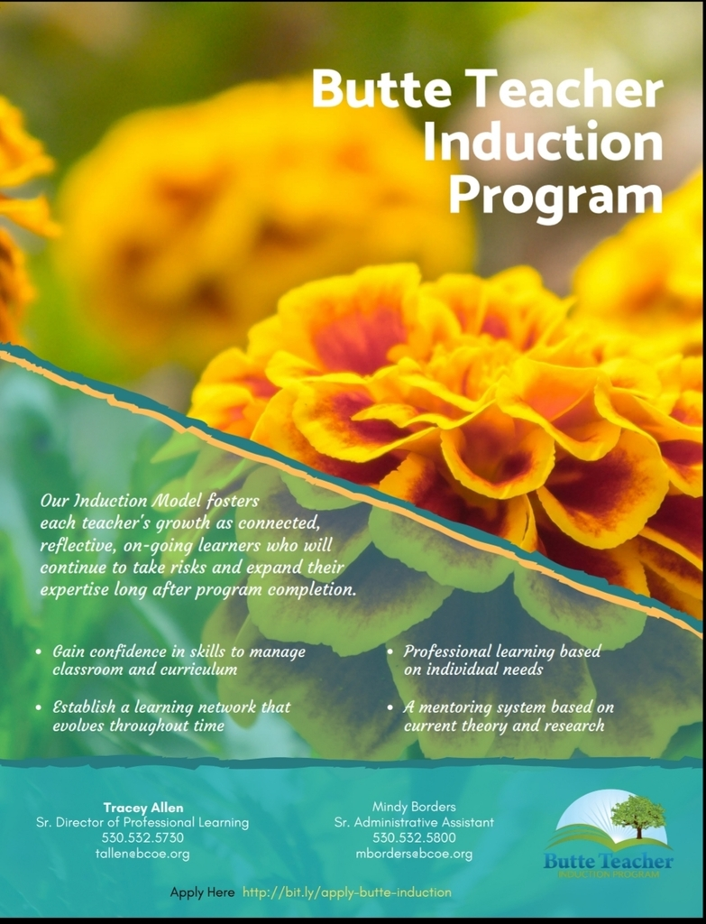 Butte Induction Program flyer