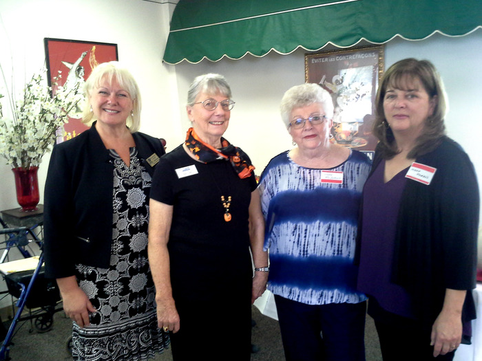 From left to right: BCOE Deputy Supt. Mary Sakuma with CalRTA Division 32 Retirees of the Year Sandy Griffin, Judy McInturf and Mary Morris