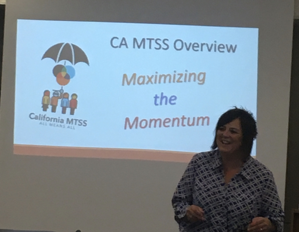 Presenting information about MTSS.