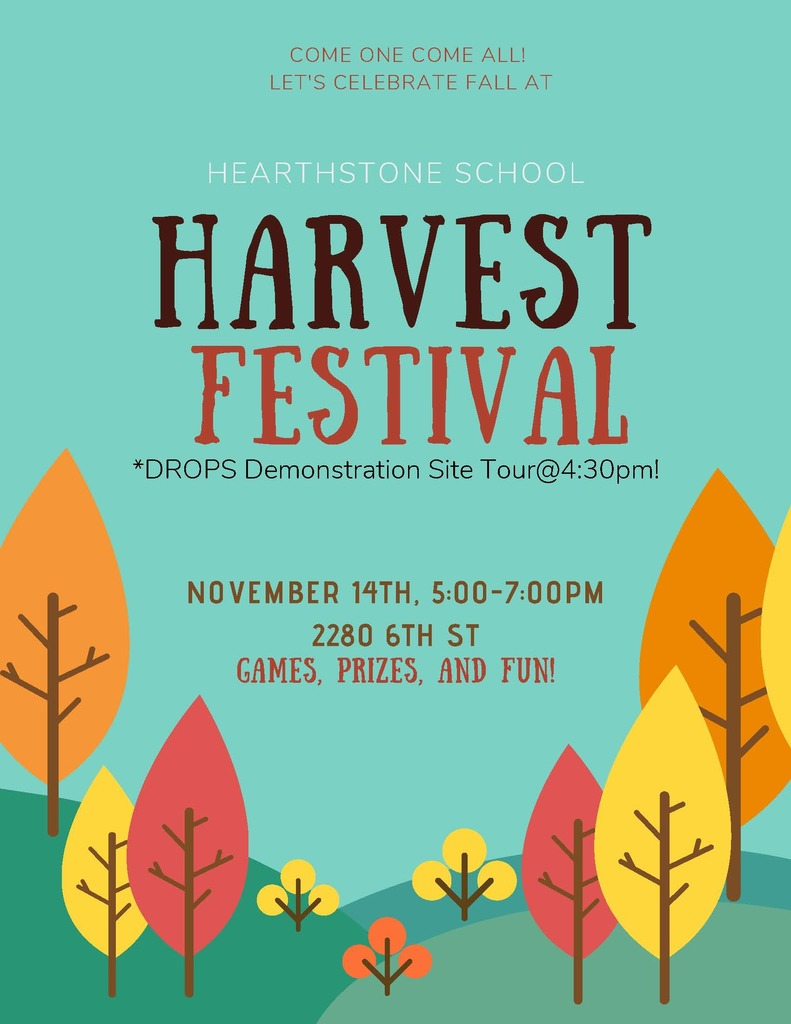 Harvest Festival Thursday 5:00-7:00pm, DROPS Tour@4:30pm