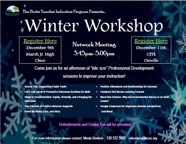 Winter Workshop flyer