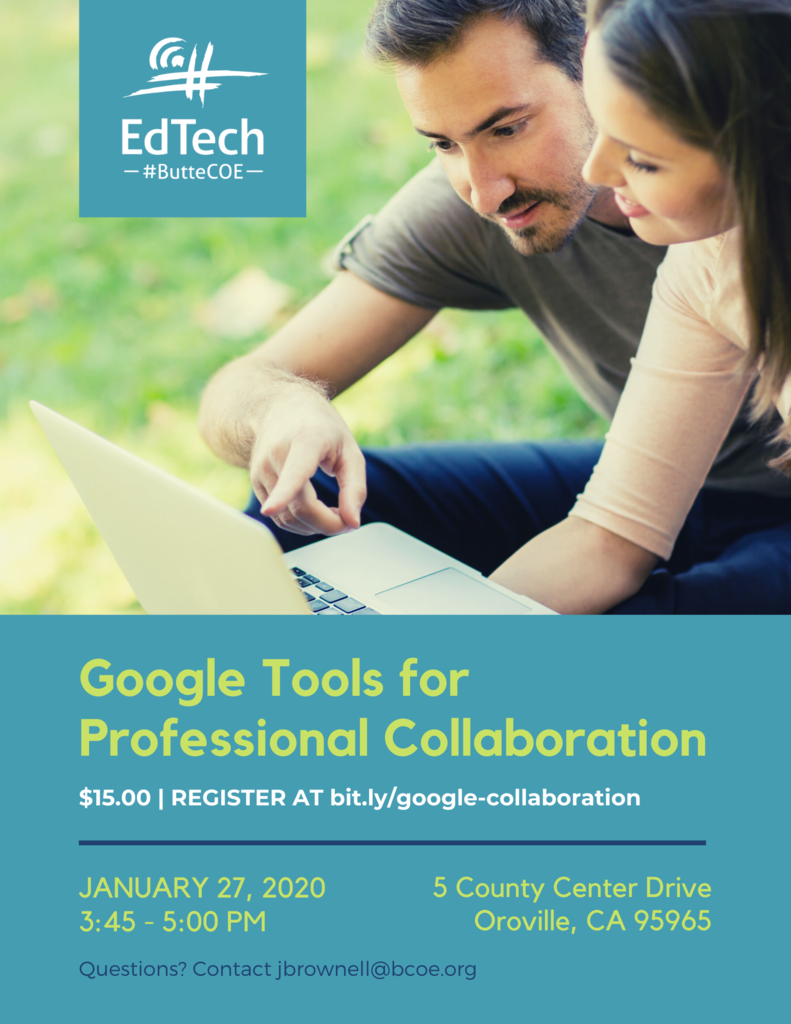 Google Tools for Professional Collaboration Flyer