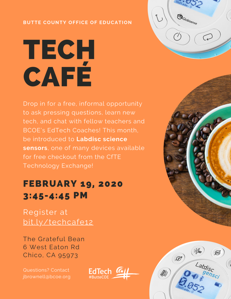 February Tech Cafe Flyer
