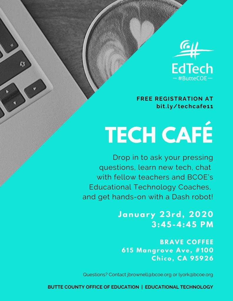 Tech Cafe with Dash Flyer