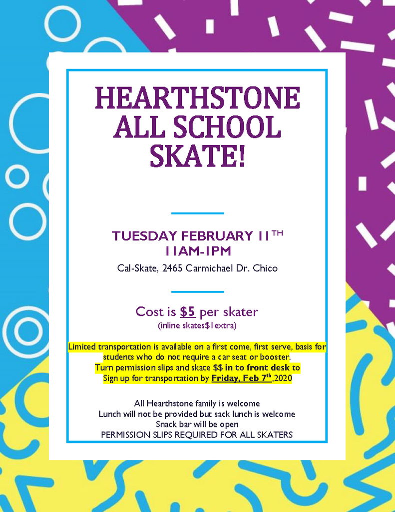 All School Skate event flier
