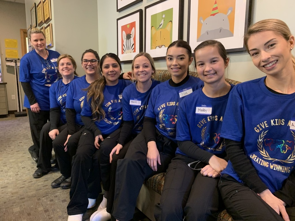 Dental Students at the Give Kids a Smile event.