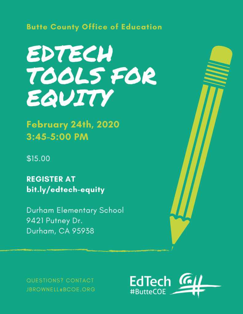 EdTech Tools for Equity Flyer