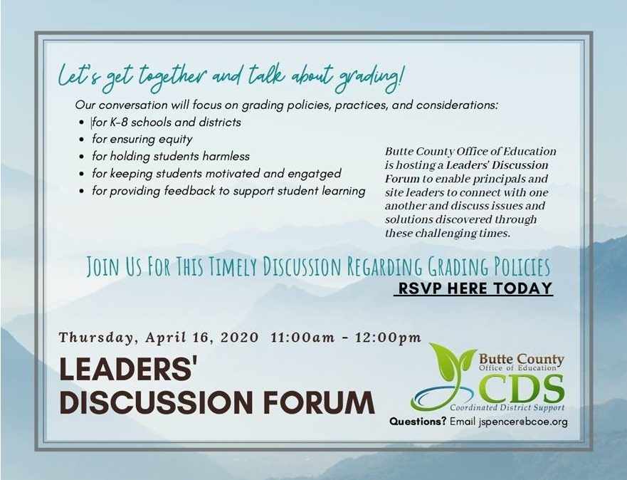 leaders' discussion forum flyer