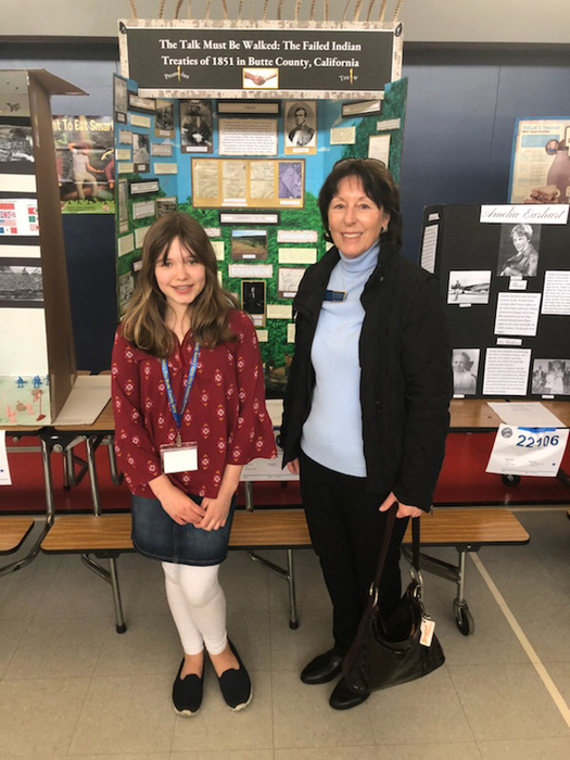 BCOE Board Trustee MacKay with National History Day student