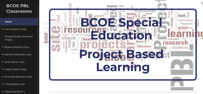 Project-Based Learning classes in BCOE's Special Education program
