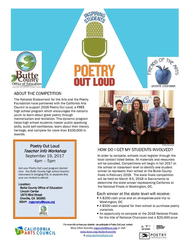 Poetry Out Loud Information Workshop for Teachers