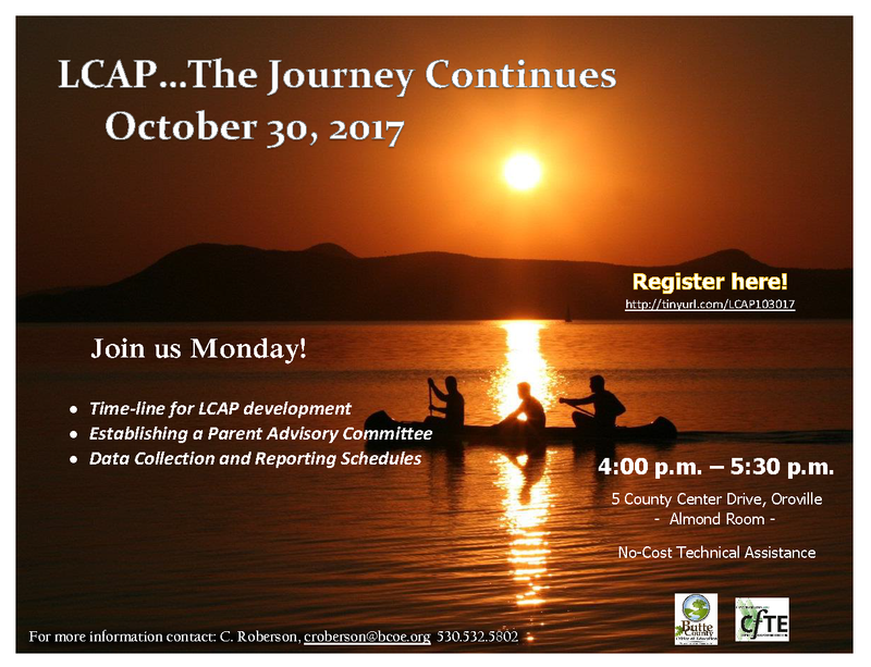 LCAP ... The Journey Continues - Oct. 30, 2017