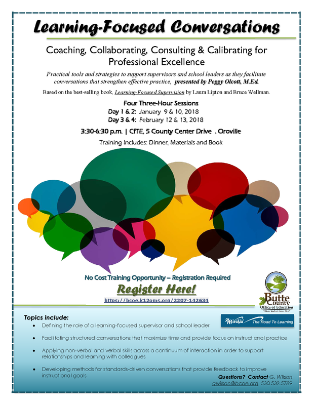 Learning-Focused Conversations -- Training Opportunity