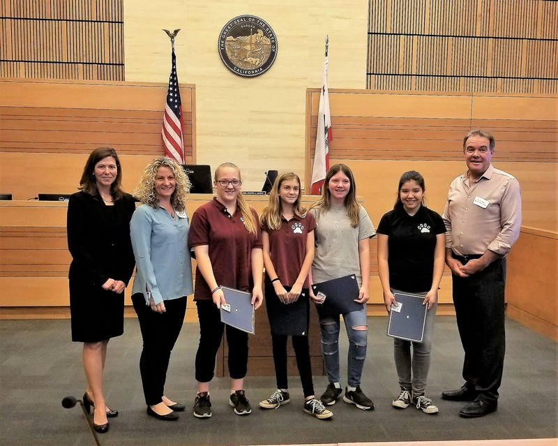 Students from Achieve Charter recognized by the California Civic Learning Partnership, Butte County.