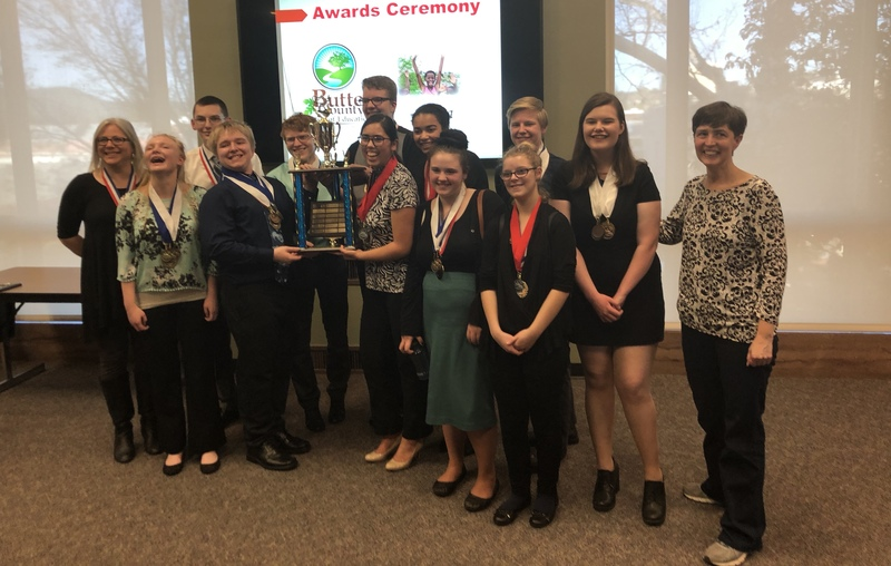 PARADISE HIGH SCHOOL WON BUTTE COUNTY ACADEMIC DECATHLON