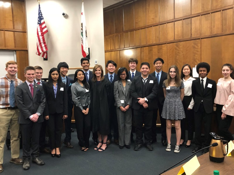 PV high school mock trial participants 2018