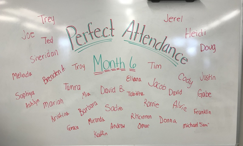 Perfect Attendance - Month 6